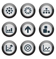 Set of simple graph icons vector