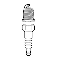 spark-plug vector image vector image