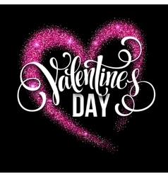 Sparkle glitter valentines day heart vector