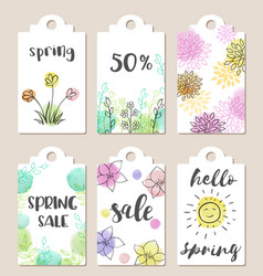 tags for spring sale vector image vector image