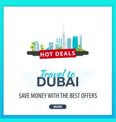 travel to dubai travel template banners for vector image vector image