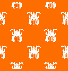 tribal helmet pattern seamless vector image vector image