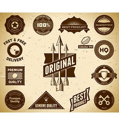 Vintage labels Collection 8 vector image