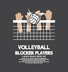 Volleyball block players sports graphic vector