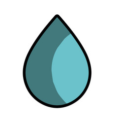 water drop to conservation and care environment vector image