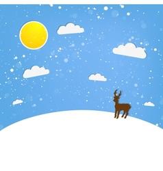 xmas of happy Reindeer vector image