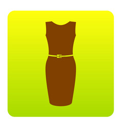 dress sign brown icon at vector image