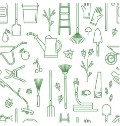 Garden tools pattern vector