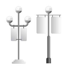 Advertising media spaces outdoor light pole vector