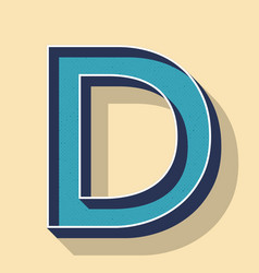Letter d retro text style fonts concept vector