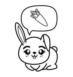 Isolated cute sitting rabbit vector