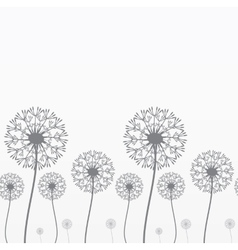 Seamless background with dandelions vector