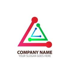 Future network technology logo template vector