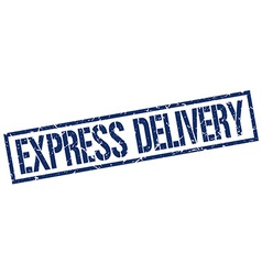 Express delivery stamp vector