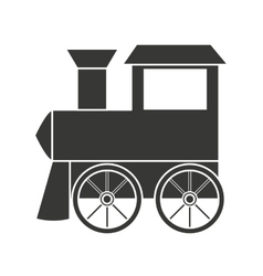 Baby toy train isolated icon design vector