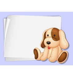 Toy dog paper vector