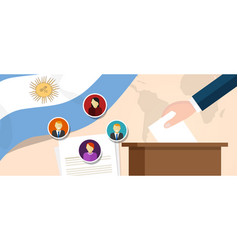 argentina democracy political process selecting vector image vector image
