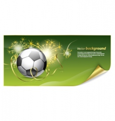 bafootball poster vector image