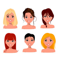 character beautiful business woman set 19 vector image vector image