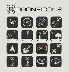 drone or quadcopter icon set vector image