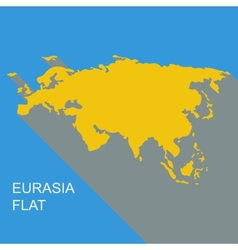 eurasia flat vector image