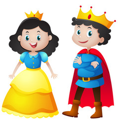 fairytale characters of king and queen vector image