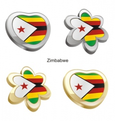 flag of Zimbabwe vector image