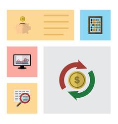 Flat gain set of money box scan interchange and vector