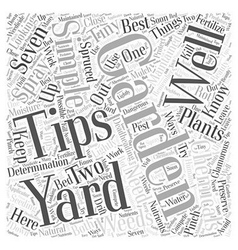 Gardening by the yard word cloud concept vector