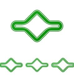 Green abstract loop logo design set vector image vector image