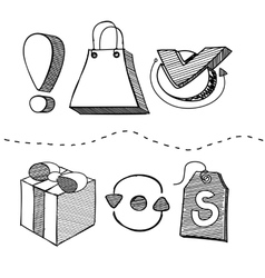 Hand Drawn Shopping Element Design vector image