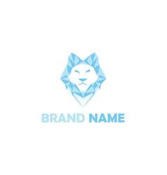 ice lion logo vector image