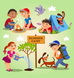 Kids summer camp vector