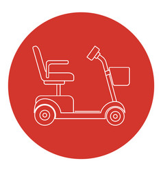 line art style mobility scooter icon vector image