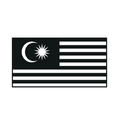 Malaysia flag monochrome on white background vector
