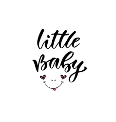 Modern calligraphy My little Baby vector image vector image