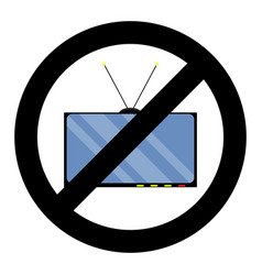 not tv icon vector image