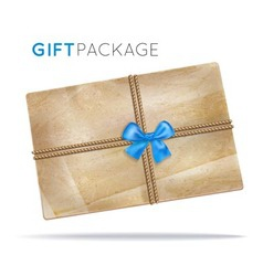 Paper package with a bow vector image