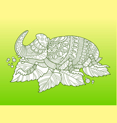 Rhinoceros beetle insect fashion vector