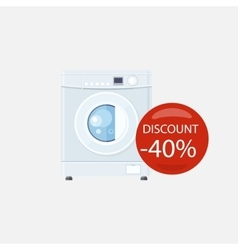 Sale of Household Appliances Washing Machine vector image vector image