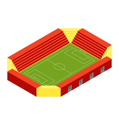 SOCCER STADIUM ISOMETRIC FLAT DESIGN vector image vector image