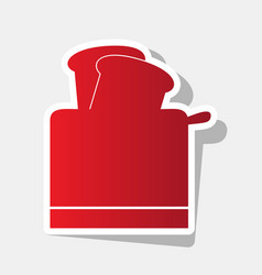 Toaster simple sign new year reddish icon vector