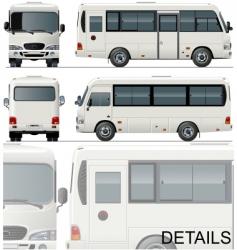 Urban passenger minibus vector