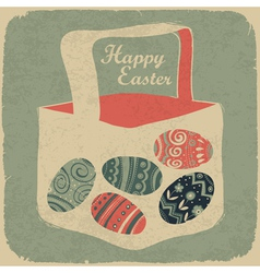 vintage happy easter vector image vector image