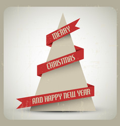 Vintage retro grunge christmas tree vector