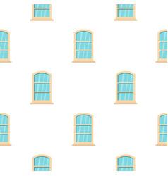 White narrow window pattern flat vector