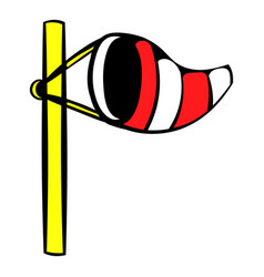 Windsock on golf course icon icon cartoon vector