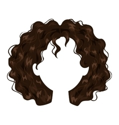 Woman hairstyle silhouette vector