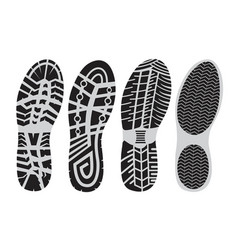 footprint sport shoes vector image