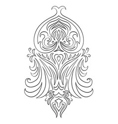 black and white vintage tracery vector image